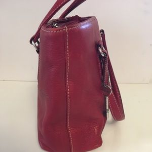 Fossil Bags - Fossil red tote bag.